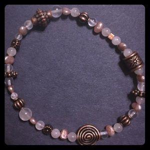 Whisper Pink Rose Quartz & Pearl Bracelet